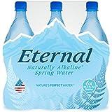Eternal Water Naturally Alkaline Spring Water, 600 ml (4 Packs of 6 Bottles)