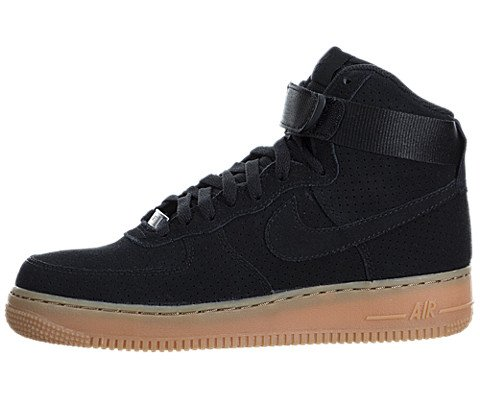 Nike Womens Air Force 1 Hi Suede Trainers 749266 Sneakers Shoes (US 10, black black 001)