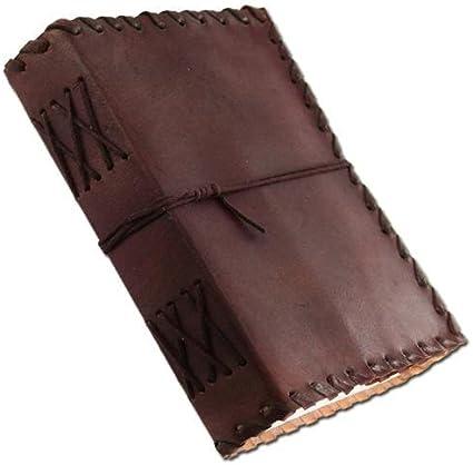 ANUENT Periódico Cuero Renacimiento Cuero Hecho a mano Diario medieval Diario Pensamiento Libro (6 x 8 inches)