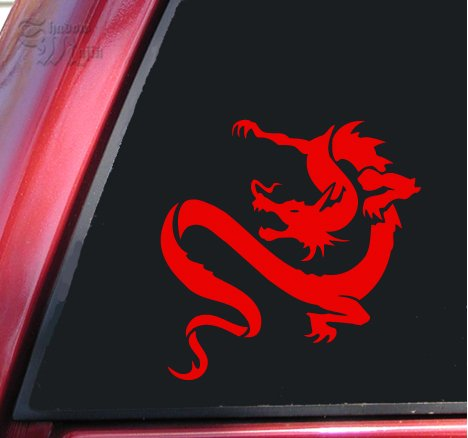 Chinese Dragon Vinyl Decal Sticker - Red (Chinese Vinyl Dragon)