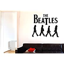 The Beatles Wall Stickers Art Decals - Large (Height 57cm x Width 67cm) Black