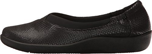 Clarks Women's Sillian Jetay Black Snake Print Loafer P53BE9mziB