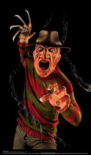 WOWindow Posters Freddy Krueger Nightmare on Elm Street Halloween Window Decoration 34.5