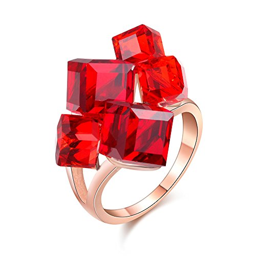 red cocktail ring - 3