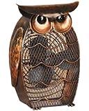 DecoBREEZE Table Fan Two-Speed Electric Circulating Fan, Owl Figurine Fan
