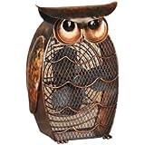 DecoBREEZE Owl Figurine Fan Two-Speed Electric Circulating Fan