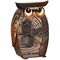 DecoBREEZE Table Fan Two-Speed Electric Circulating Fan, Owl Figurine Fan