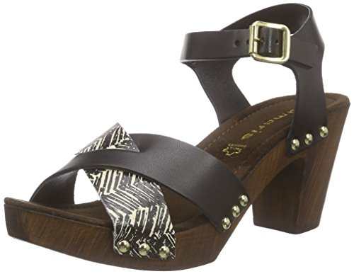 Tamaris 28363 - Sandalias de tobillo Mujer Varios Colores - Mehrfarbig (BLACK/SAFARI 097)