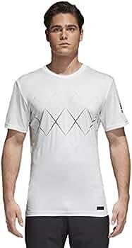 adidas Barricade - Camiseta de, Todo el año, Hombre, Color Blanco ...