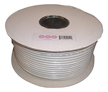 G-Technology RG6 - Cable coaxial de satélite (50 metros), blanco