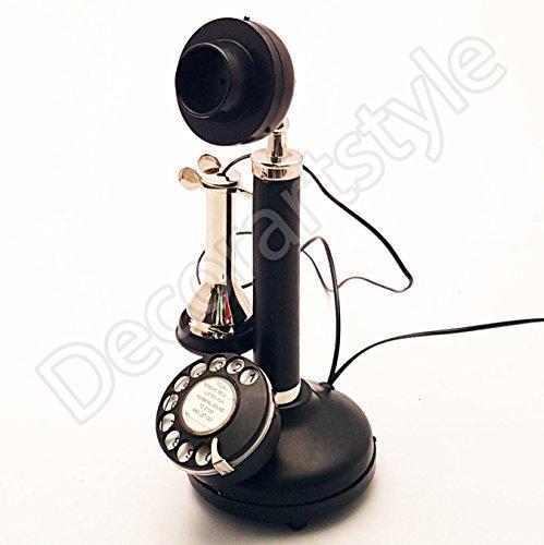 Royal Antique Decoración Latón Niquelado Esfera Rotativa Candelabro Teléfono de Trabajo