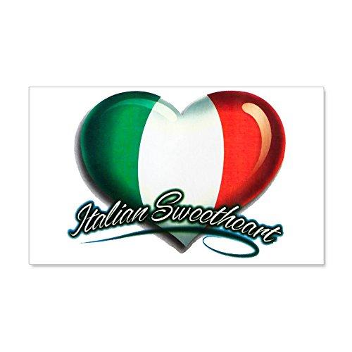 (35 x 21 Wall Vinyl Sticker Italian Sweetheart Italy Flag)