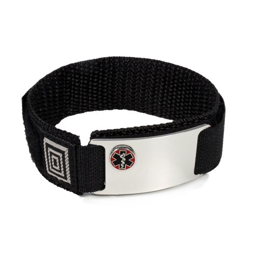 taking-plavix-sport-medical-id-alert-bracelet-with-black-velcro-wrist-band