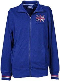 Admiral Felpa Uomo (Men's Hooded Sweatshirt) French Terry Blu Navy (Blue Navy 004)