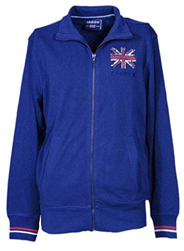 AdmiralFelpa Uomo (Men s Hooded Sweatshirt) French Terry Blu Navy (Blue  Navy 004) c2b9edd118d