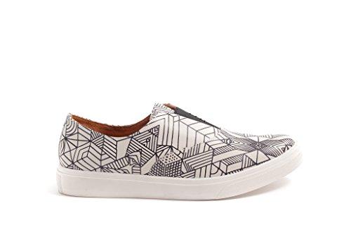 Pacific Nana Sneaker Pretty 460390 Stampa Fantasia Donna Bianco Scarpa Geometrico BxZYdYqnTw