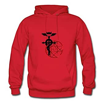 X-large Casual Red Hoodies For Women Cotton Fashionable Fma Ed And Al