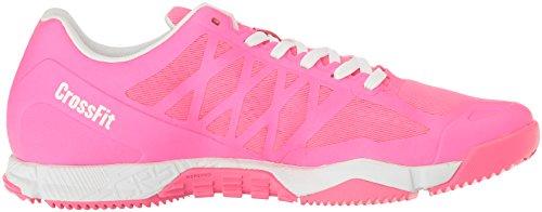 Reebok Damen Crossfit Speed TR Cross-Trainer Schuh Solar Pink / Weiß / Silber Metallic