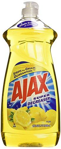 Ajax Dishwashing Liquid, Super Degreaser, Lemon, 28 Ounce