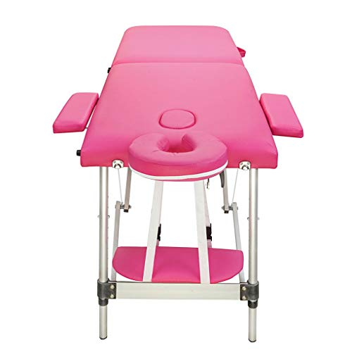 Foldable Aluminum Portable Relaxing Massage Table 2 Sections Folding Salon SPA Body Building Bed xuanL