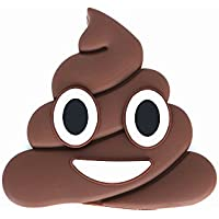 Brown Poops Emoji Cartoon Cute Funny PVC External Battery Portable Charger 2600mah Power Bank for iPhone 7 Plus 6 6S Plus 5S 5C 4S Samsung Galaxy S7 S6 Edge S5 (Brown Poop)