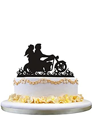 Harley Davidson wedding cake topper,Biker wedding cake topper,motorcycle wedding cake topper,Personalized wedding cake toppers,