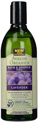 Avalon Organics Bath and Shower Gel, Lavender, 12 Ounce (Pack of 3)