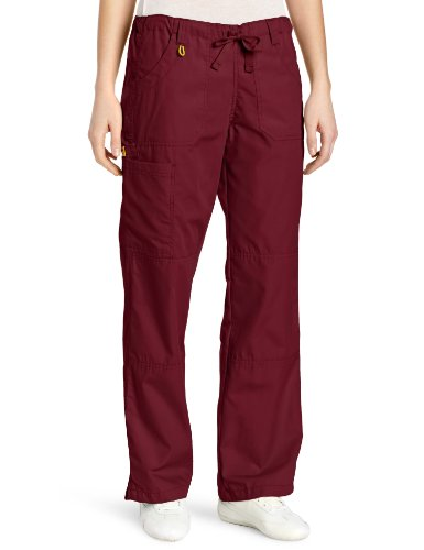 WonderWink Women's Scrubs  Cargo Pant, Wine, X-Large/Petite