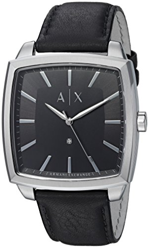 Armani-Exchange-Mens-AX2362-Stainless-Steel-Black-Leather-Watch