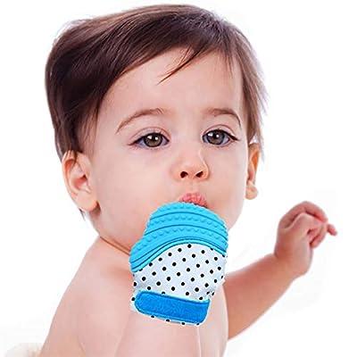 AmerStar 2Pack Baby Teething Mitten | Mom Designed | Self Soothing Pain Relief | Mittens BPA Free | Like Munch Mitt | Baby Boy Baby Girl | Babies 3-12 Months: Garden & Outdoor