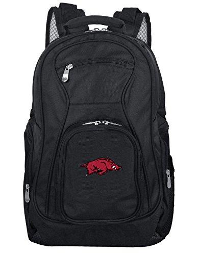 Denco NCAA Arkansas Razorbacks Voyager Laptop Backpack, 19-inches, Black