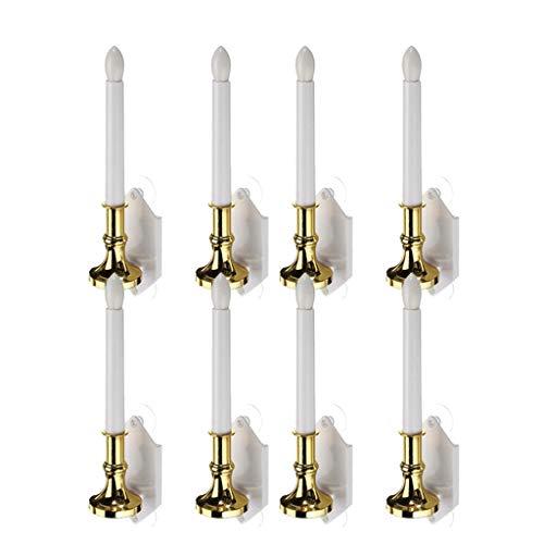 joyMerit 8 Pieces Solar Candle Lights, Led Window Candles, Warm White Bright Flickering Bulb Christmas Candles with Suction Cups (Solar Window Candles)