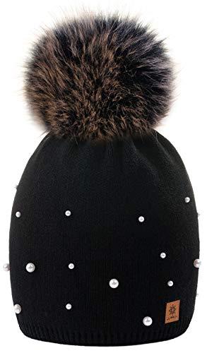 Negro Cap 1 4sold Ball Con Women Wool Bobble Womens Winter Beanie Color Modelo Girls Ski Hat Big Ladies Pom Snowboard Knit qRqWnfw6