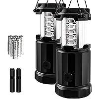 Etekcity 2 Pack Portable LED Camping Lantern Flashlights...