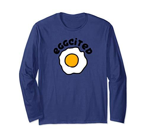 Eggcited for Eggs Omelette Eggciting Egg Yolk Puns T-Shirt