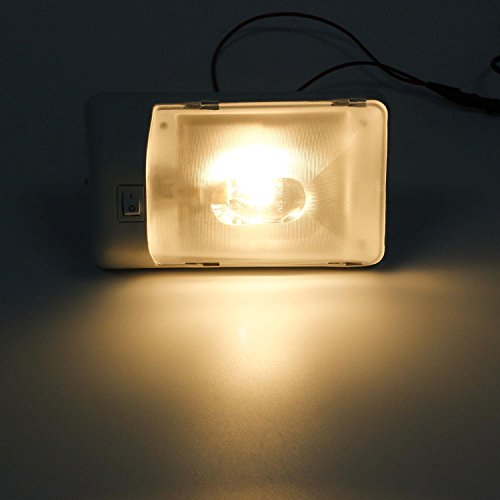 Partsam 5pcs Euro Style Incandescent Halogen Lamp Rv Interior Single Dome Ceiling Light Fixture