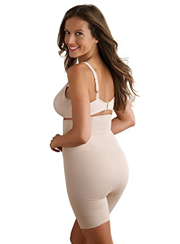 Miraclesuit Shapewear Back Magic High Waist Thigh Slimmer, Nude L (Women's 12-14) (Shapewear Firm Womens Control)