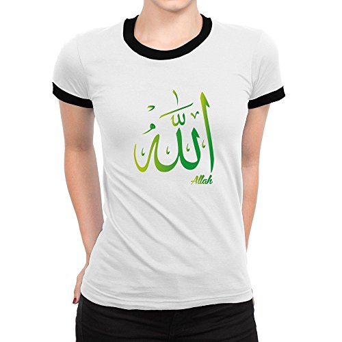 Idakoos - Allah arabic character - Fantasy and Monsters - Ringer Women T-Shirt (Names Of Monster High Characters)