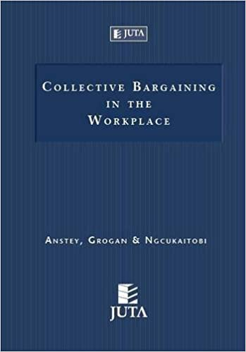 Collective Bargaining In The Workplace J Grogan Ms Anstey