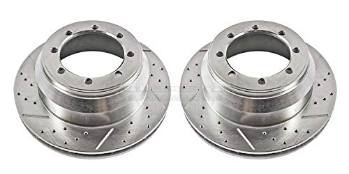 Power Stop AR8570XPR Rear Evolution Drilled & Slotted Rotor Pair