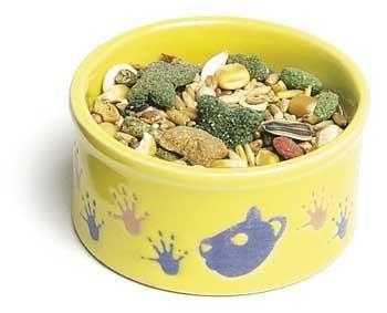 Bowl Paw Pet Print - Super Pet Paw-Print Petware Hamster Ceramic Food / Water Dish (Assorted, 3 Inch Diameter)