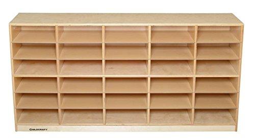 Childcraft 272116 Flat Mobile Organizer, Birch Veneer Panel, 4-Coat UV Acrylic, 33-3/8'' x 58-3/8'' x 14-1/2'', Natural Wood Tone