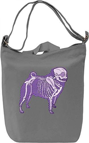Skelet Of A Pug Borsa Giornaliera Canvas Canvas Day Bag| 100% Premium Cotton Canvas| DTG Printing|