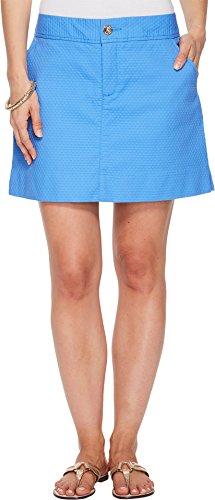 2 Button Stretch Skort - Lilly Pulitzer Women's Nicki Skort Bennet Blue 2 3