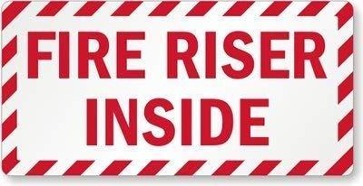 YQZsayi Stylish Sign, Legend Fire Riser Inside, 8
