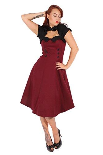 Kleid Pin Swing Up Uniform Rockabilly Petticoatkleid Bolero Retro Yf7bgvIy6