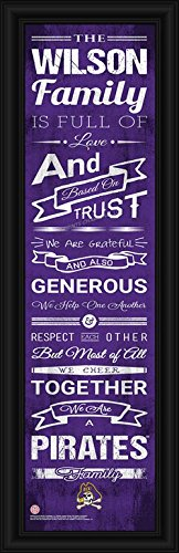Laminated Visuals East Carolina Pirates - Personalized Family Cheer - Framed Poster (Dowdy Ficklen Stadium)