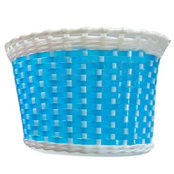 SODIAL(R) Children Bicycle basket Shopping basket Luggage carrier Handlebar basket Bike handle basket Blue