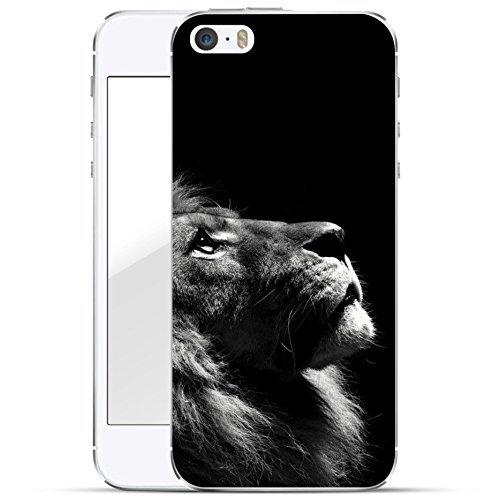 finoo | iPhone 5 und 5S Hard Case Handy-Hülle mit Motiv | dünne stoßfeste Schutz-Cover Tasche in Premium Qualität | Premium Case für Dein Smartphone| Löwe V2