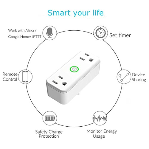 Price comparison product image Dreamyth One Support Two WIFI Phone Remote Contro Smart Socket Independent Control,American Warehouse Shippment